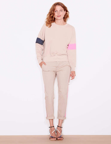 Arm Stripe Zip Sweatshirt
