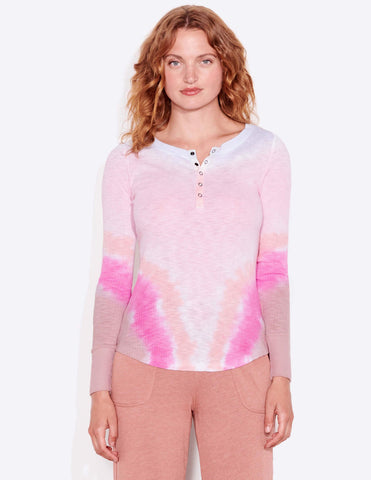 Sundry Fitted Tie Dye Henley