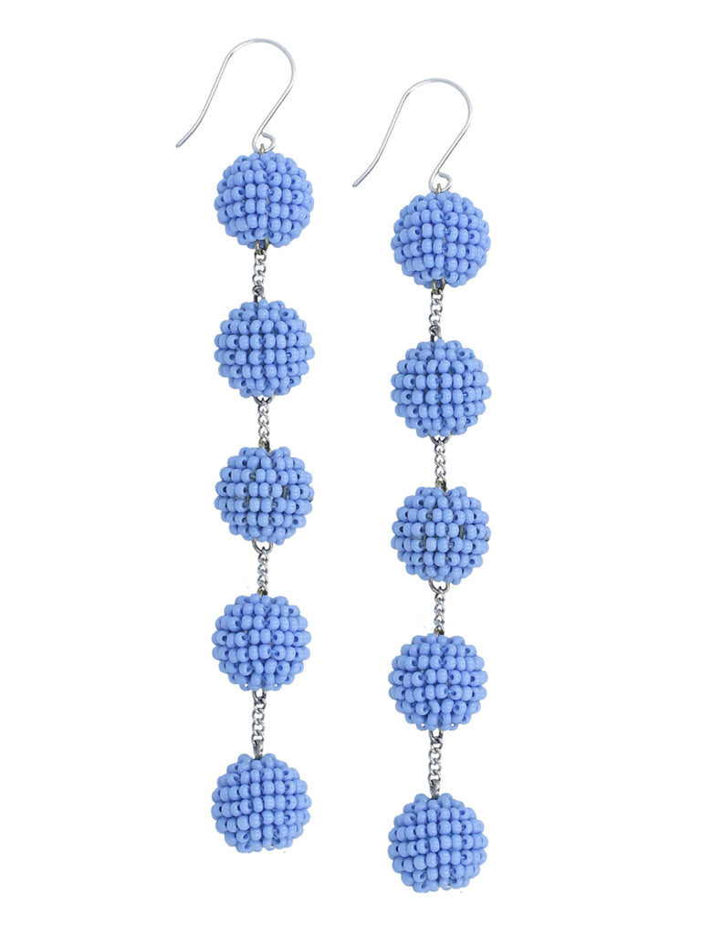 Riviera Tier Small Pom Pom Earring
