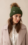 Amalie Knit Hat with Removable PomPom