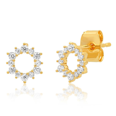 Tai Open Circle Flower Stud