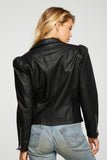 Vegan Leather Puff Sleeve Moto Jacket
