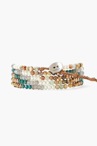 Chan Luu Turquoise Mix Gradient Naked Wrap Bracelet