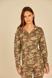 Green Camo Thermal Lounge Henley