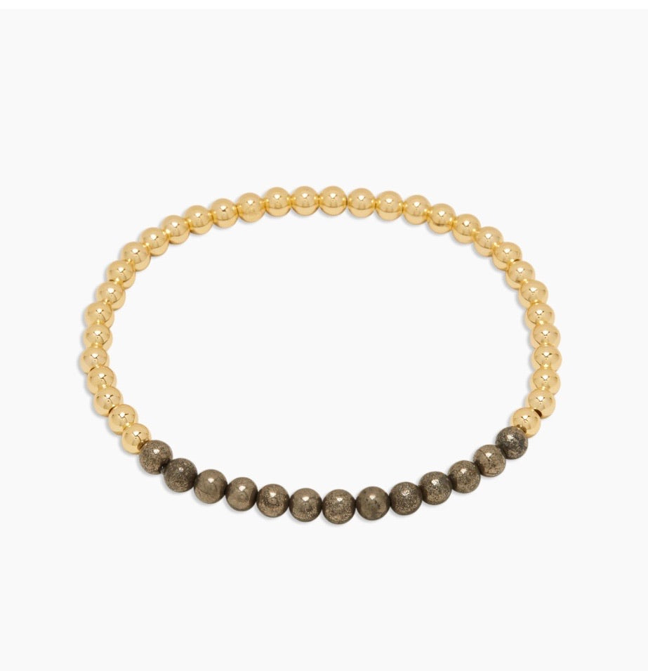 Gorjana Power Gemstone Aura Pyrite Bracelet