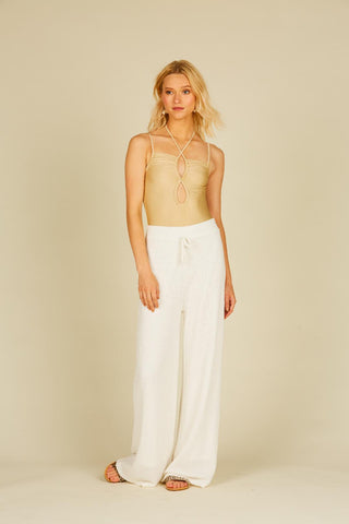 Sienna Basket texture knit pant