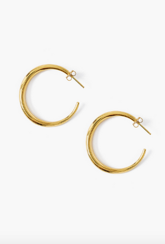 Chan Luu Medium Gold Plated Hoops