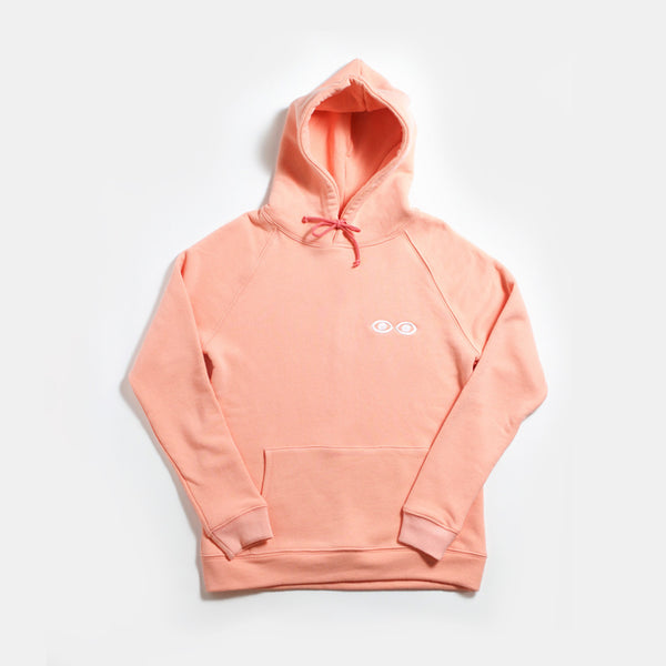 French Terry Logo Hoodie Coral