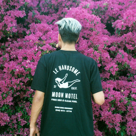 Handsome Moon Black Tee