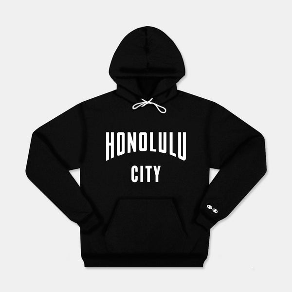 Honolulu City Hoodie Black - SOLD OUT