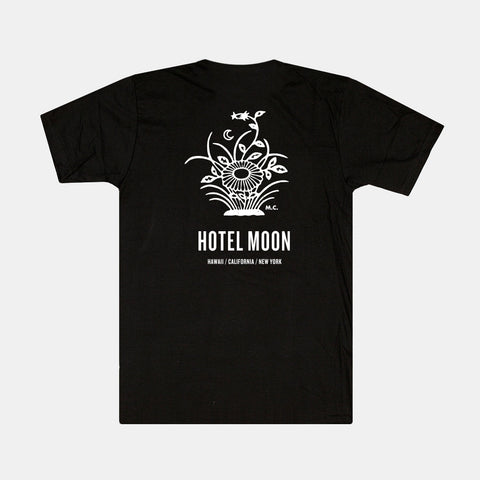 Hotel Moon Black Tee - S & XL