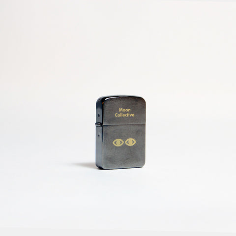 Moon Zippo Lighter - Charcoal