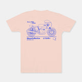 Motorcyle Moon Coral Tee