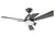 KAZE FUJIN 3 Blades Ceiling Fan - Jet Black (w/LED Light)