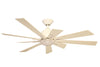 KAZE KEPLER Ceiling Fan - Arctic White (w/LED Light)