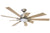 KAZE KEPLER Ceiling Fan - Orion Silver (w/LED Light)