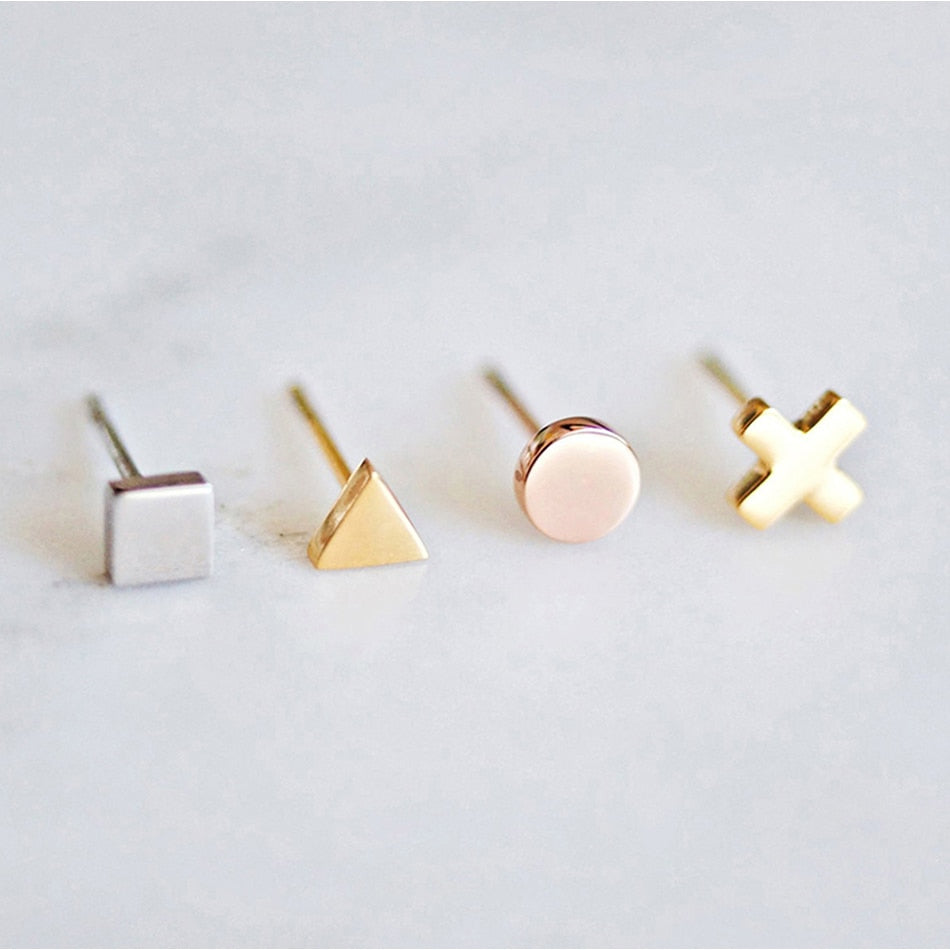 Dainty Stainless Steel Stud Earnings - Strapletz