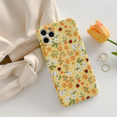 Vintage Yellow Floral iPhone 11/11 Pro/11 Pro Max 8/8Plus 7/Plus Case