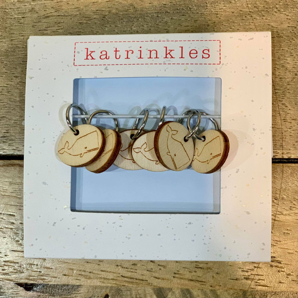 Katrinkles - Whale Stitch Markers