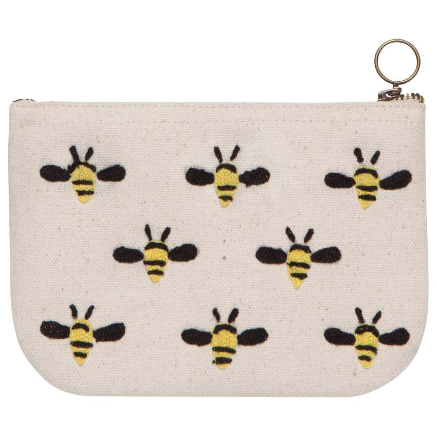 Frida (Bees) Small Zip Pouch