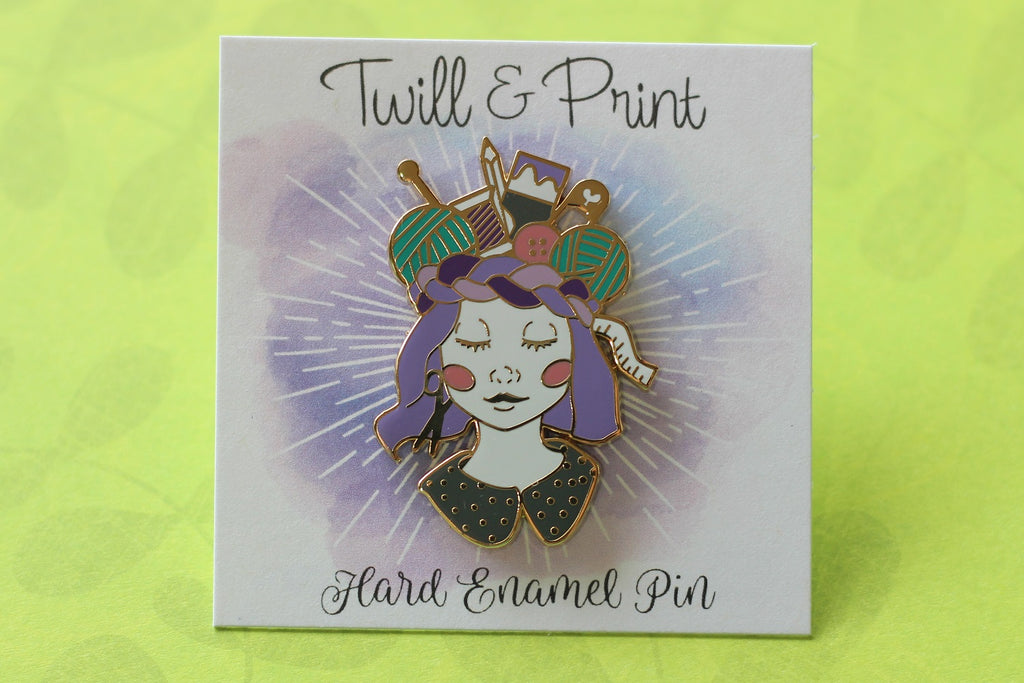Twill & Print Craft Queen Enamel Pin