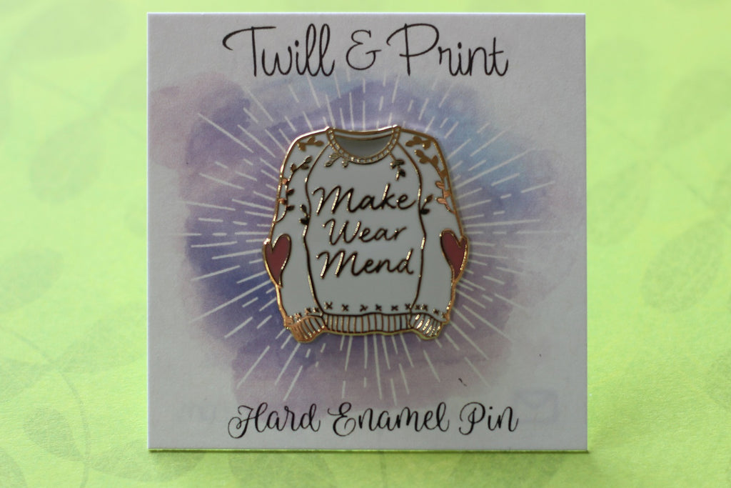 Twill & Print Make Wear Mend Enamel Pin