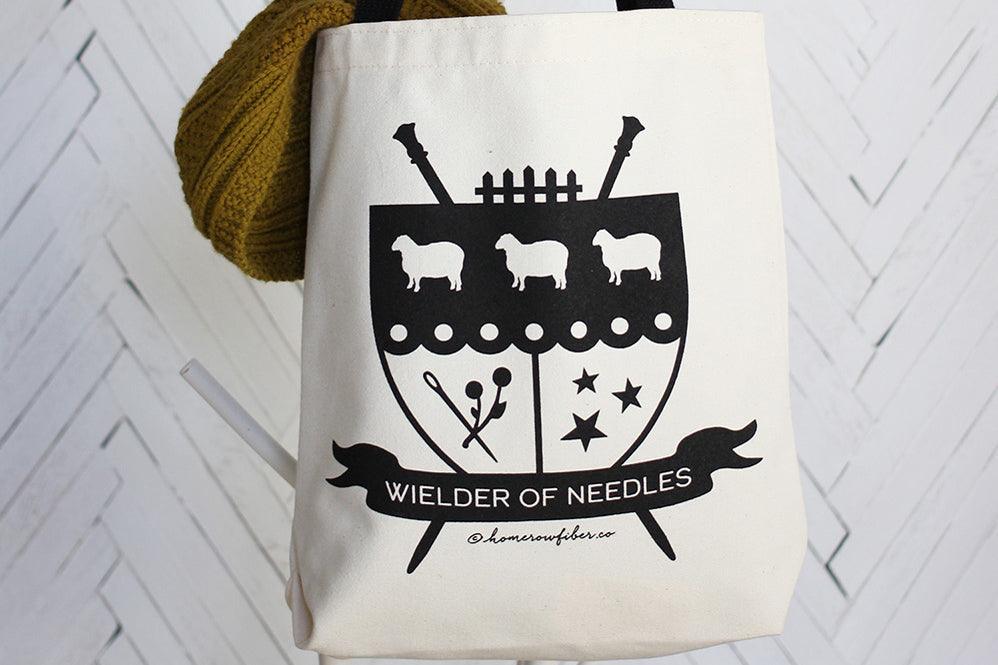 Home Row Family Crest Tote Bag