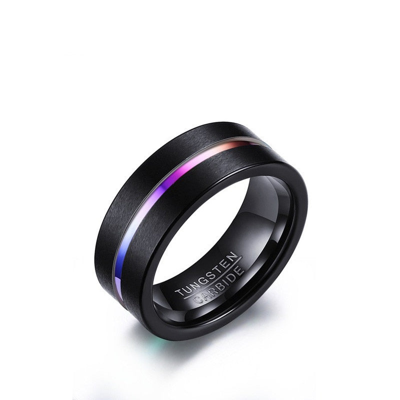 LGBT+ Pride Tungsten Rainbow Ring