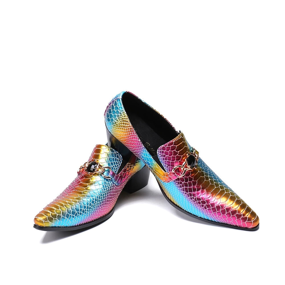 LGBT+ Pride Leather Rainbow Shoes