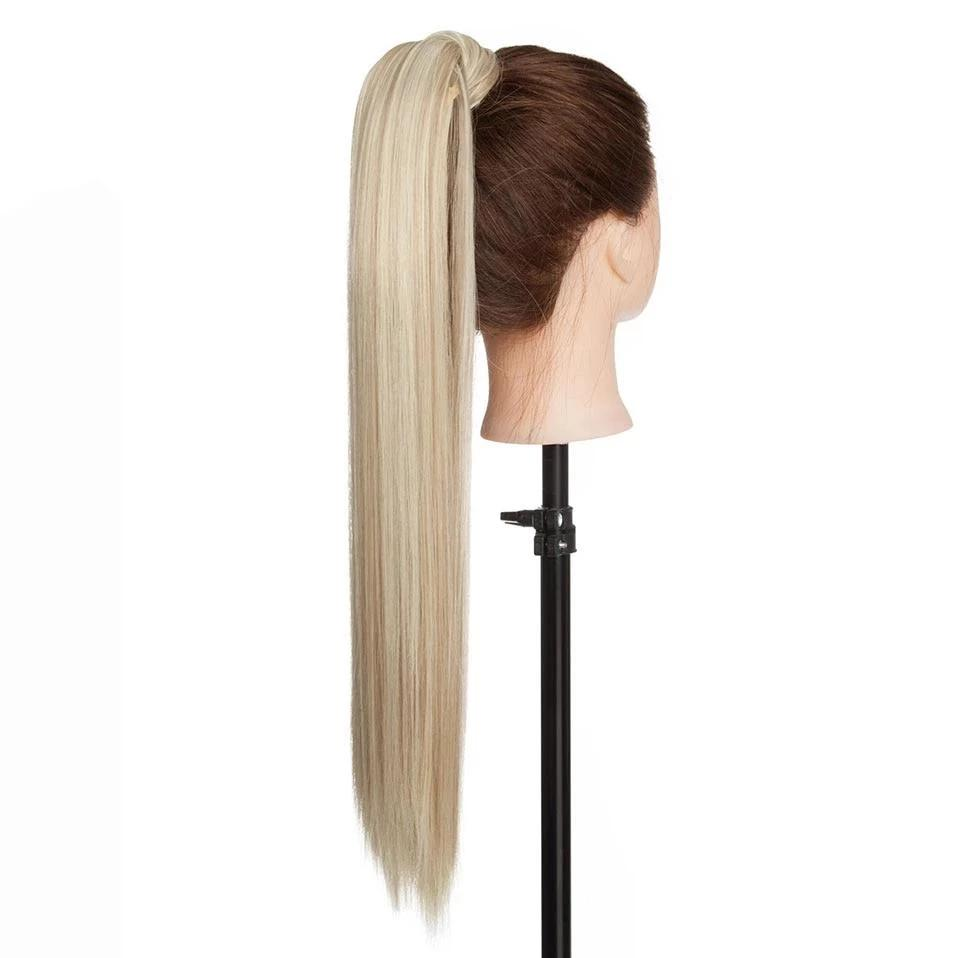 "24"" Long Straight Clip In Hair Ponytail"