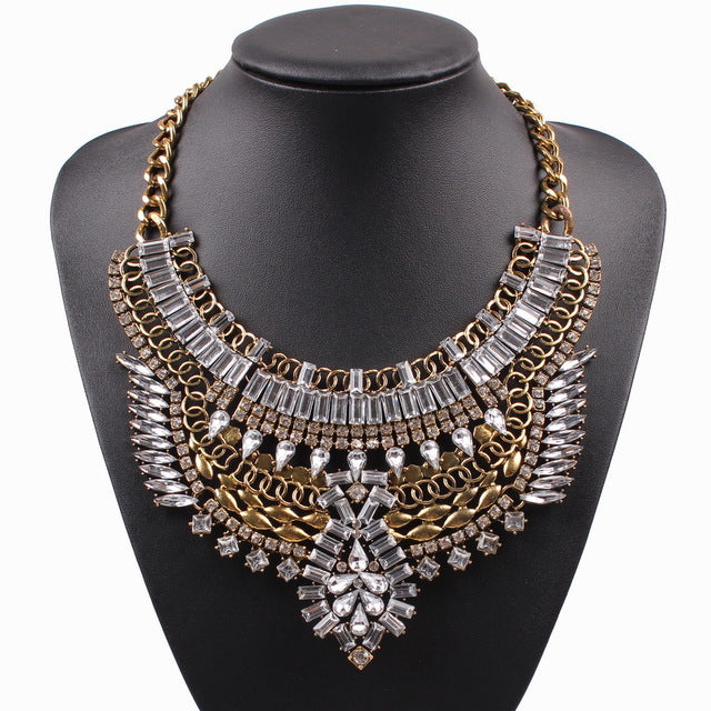 Drag Queen Chunky Crystal Necklace