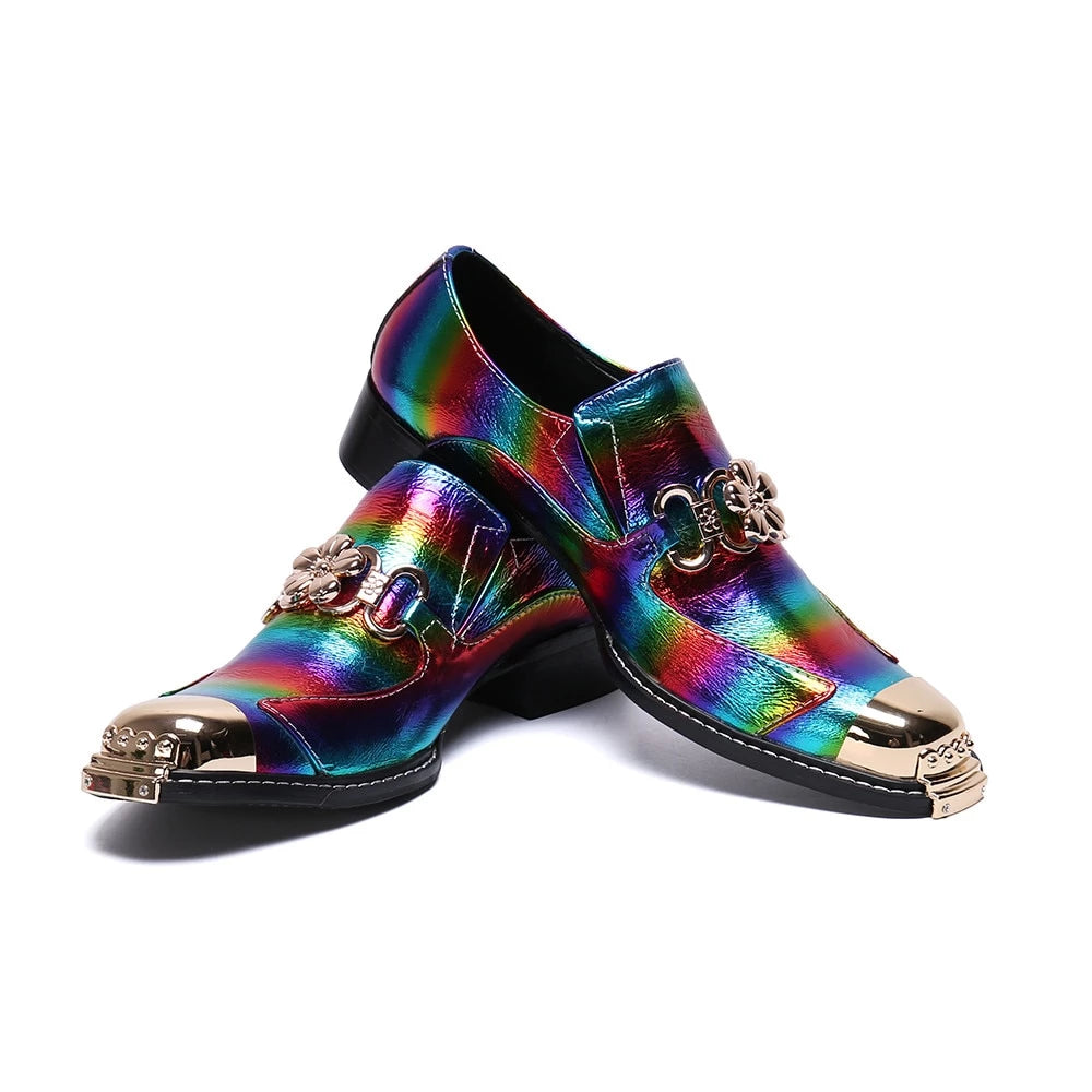 Genuine Leather Rainbow Pride Shoes