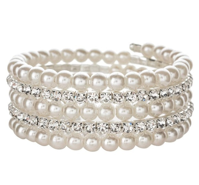 Drag Queen Faux Pearl Adjustable Bracelet