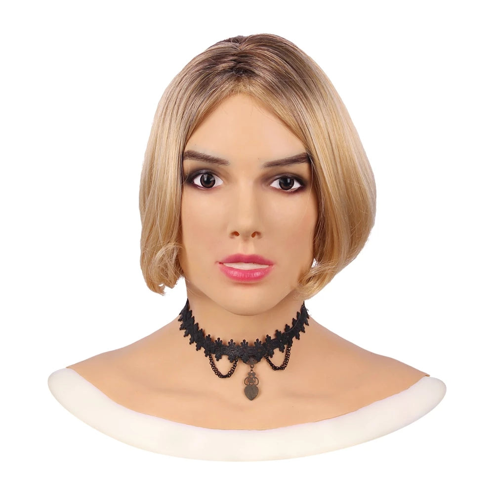 """Beatrice"" Drag Queen Realistic Head Mask"