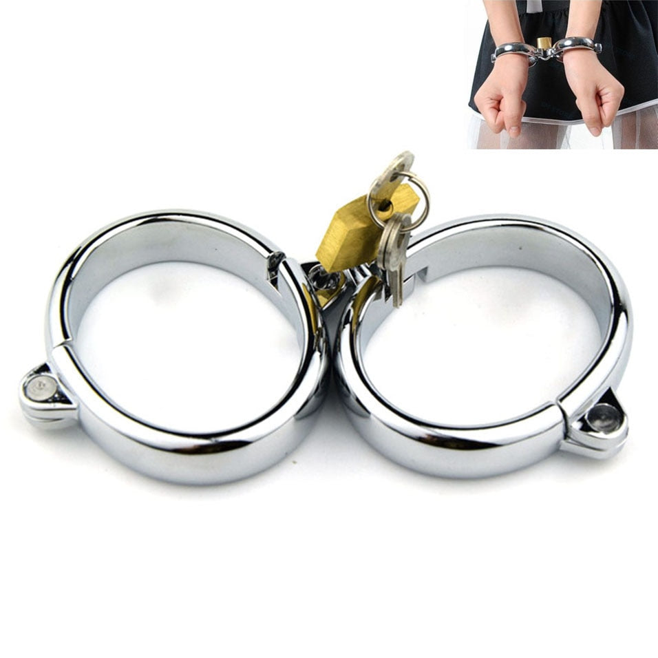 Metal Hand & Feet Cuffs With Lock