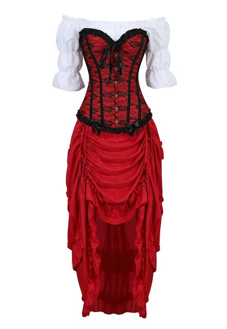 3 Pcs Crossdress Corset Dress