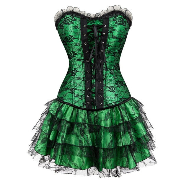 Lace & Ruffles Xdress Corset Dress