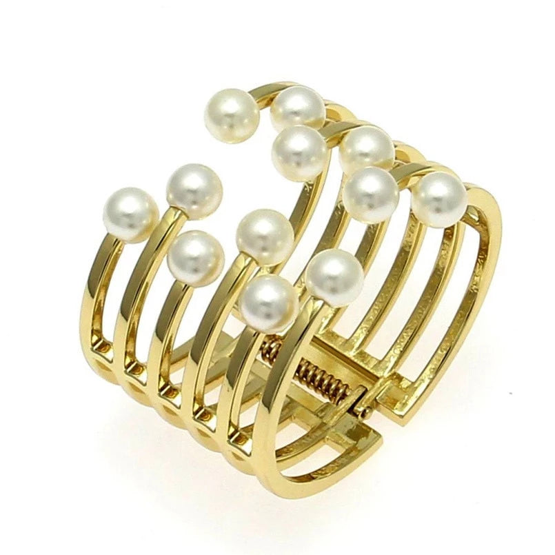 Drag Queen Faux Pearl Bangle Bracelet