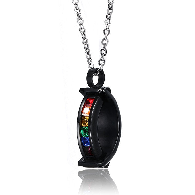 Stainless Steel LGBT Gay Pride Necklace