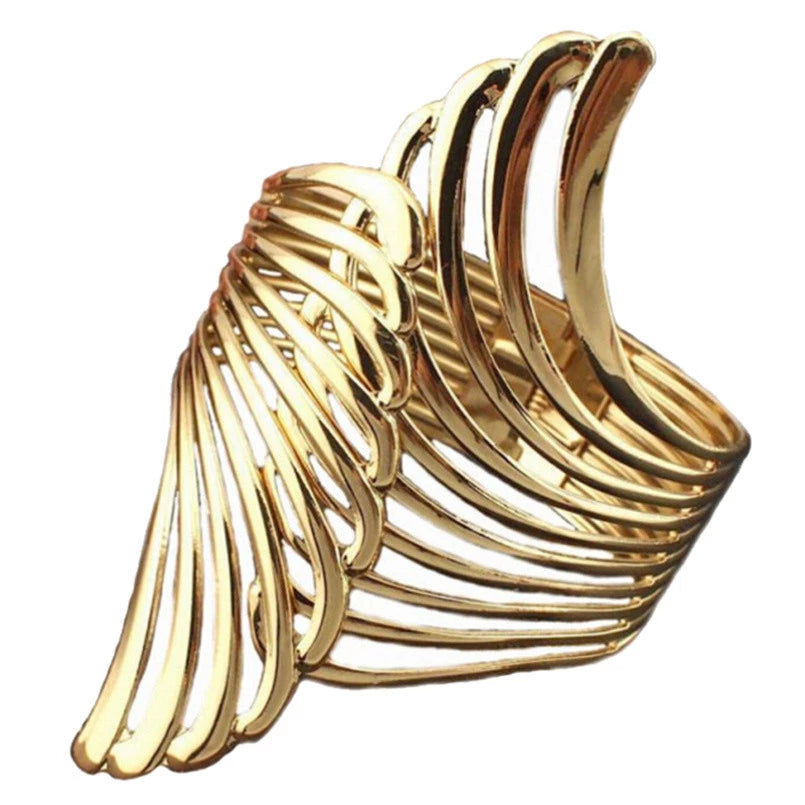 Drag Queen Wing Cuff Bangle Bracelet