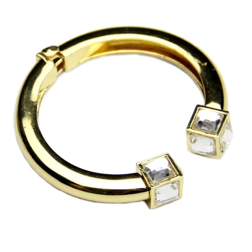 Drag Queen Square Crystal Bangle Bracelet