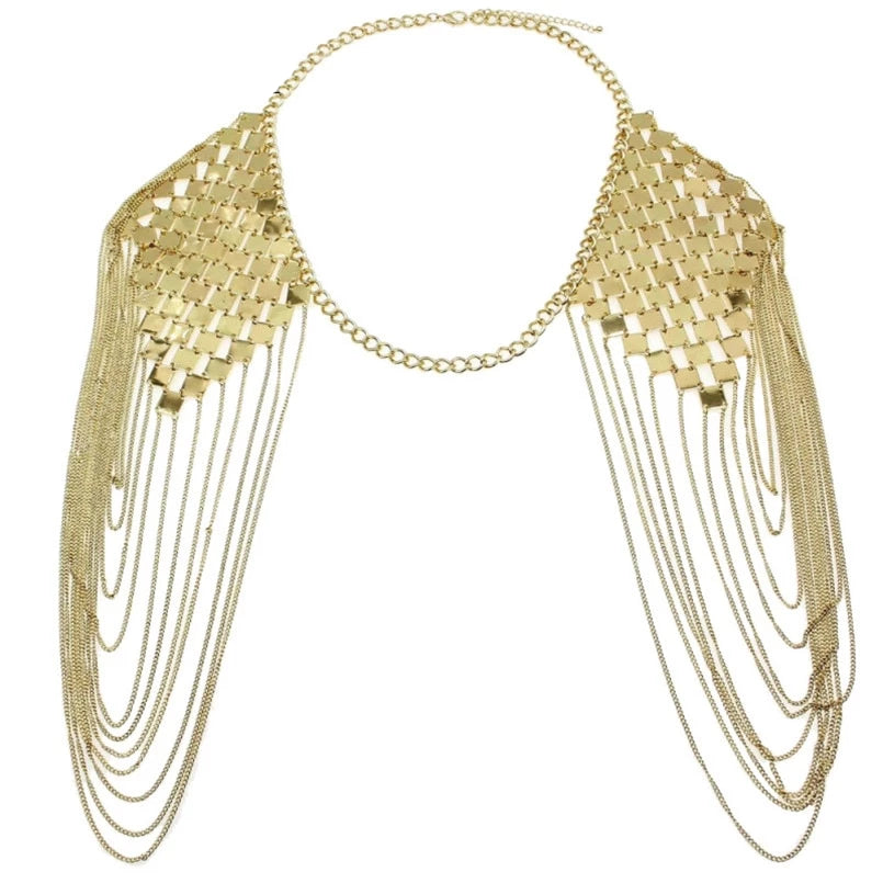 Drag Queen Shoulder Chain Collar Necklace