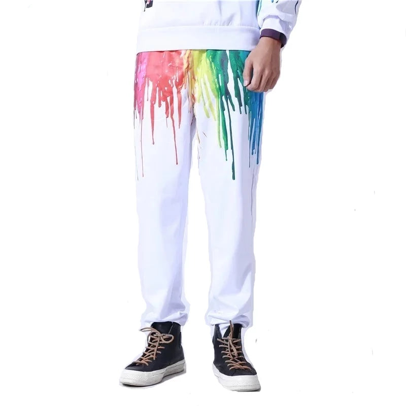 LGBT Pride Paint Drip Rainbow Sweatpants