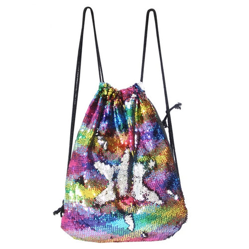 LGBT+ Pride Sequined Rainbow Drawstring Backpack