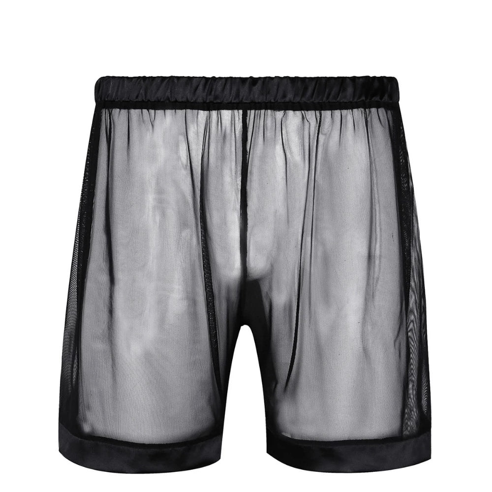 See-through Mesh Boxer Shorts