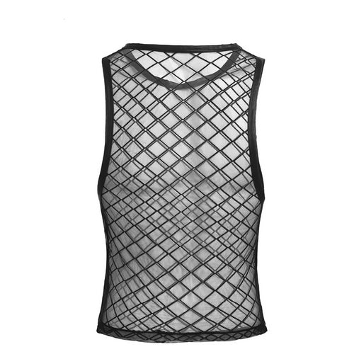 Fishnet Sleeveless Tank Top