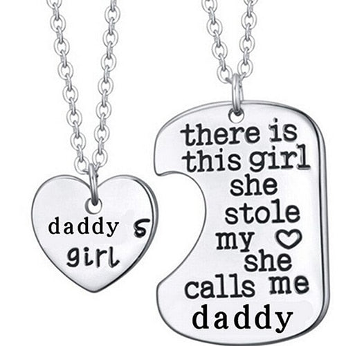 2 Pcs/Set Daddy's Girl Necklace