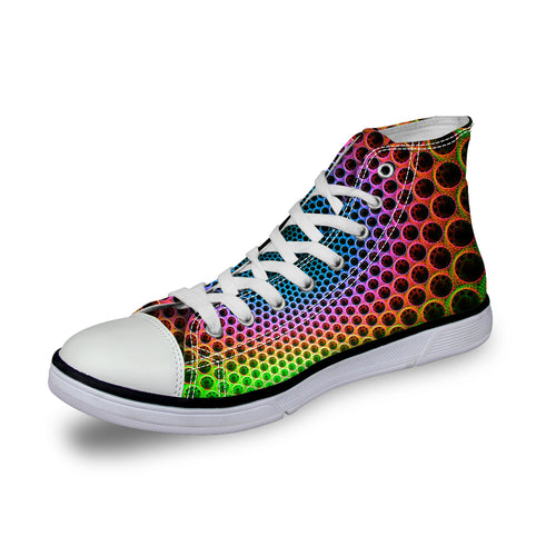 Colorful Rainbow High Top Sneakers