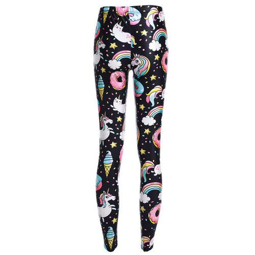 LGBT Gay Pride Rainbow Unicorn Doughnut Leggings