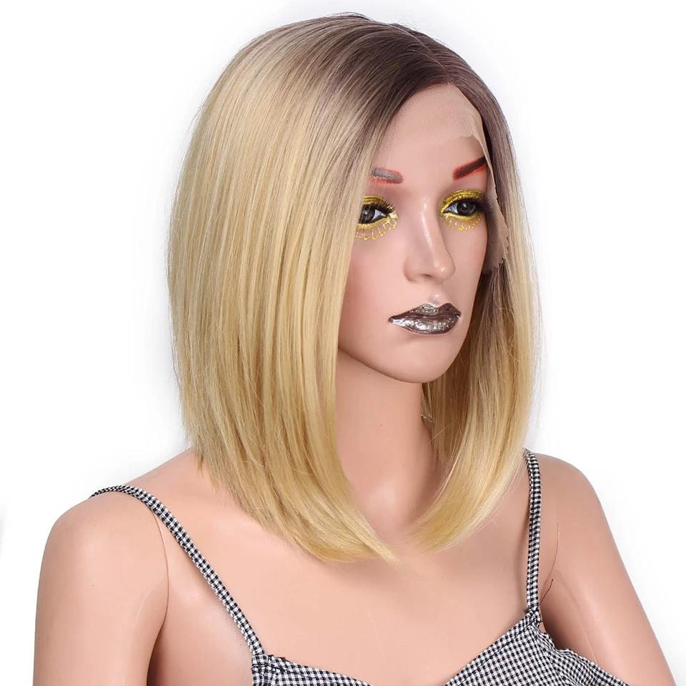 Ombre Blonde Bob Front Lace Wig